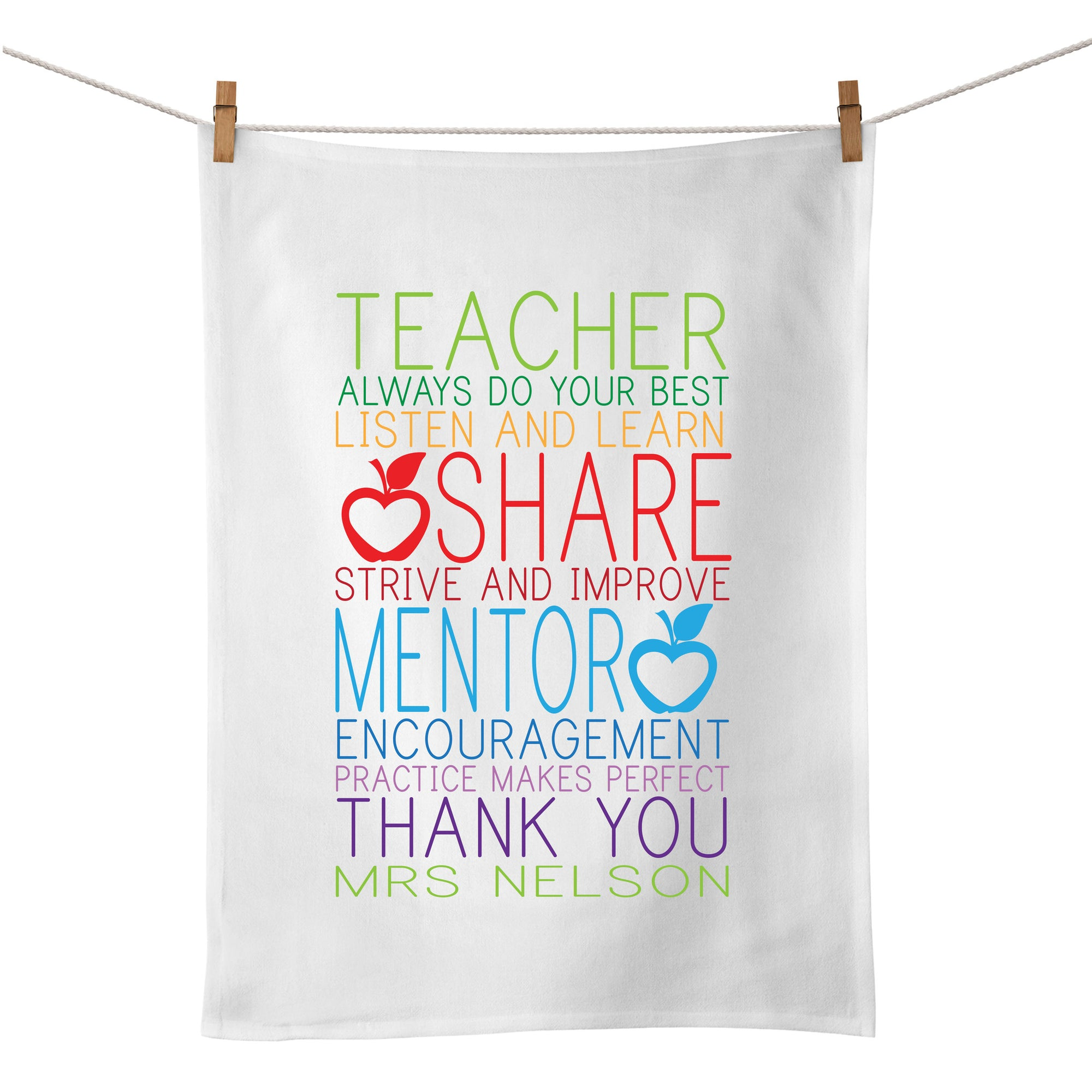 All About Learning Tea Towel