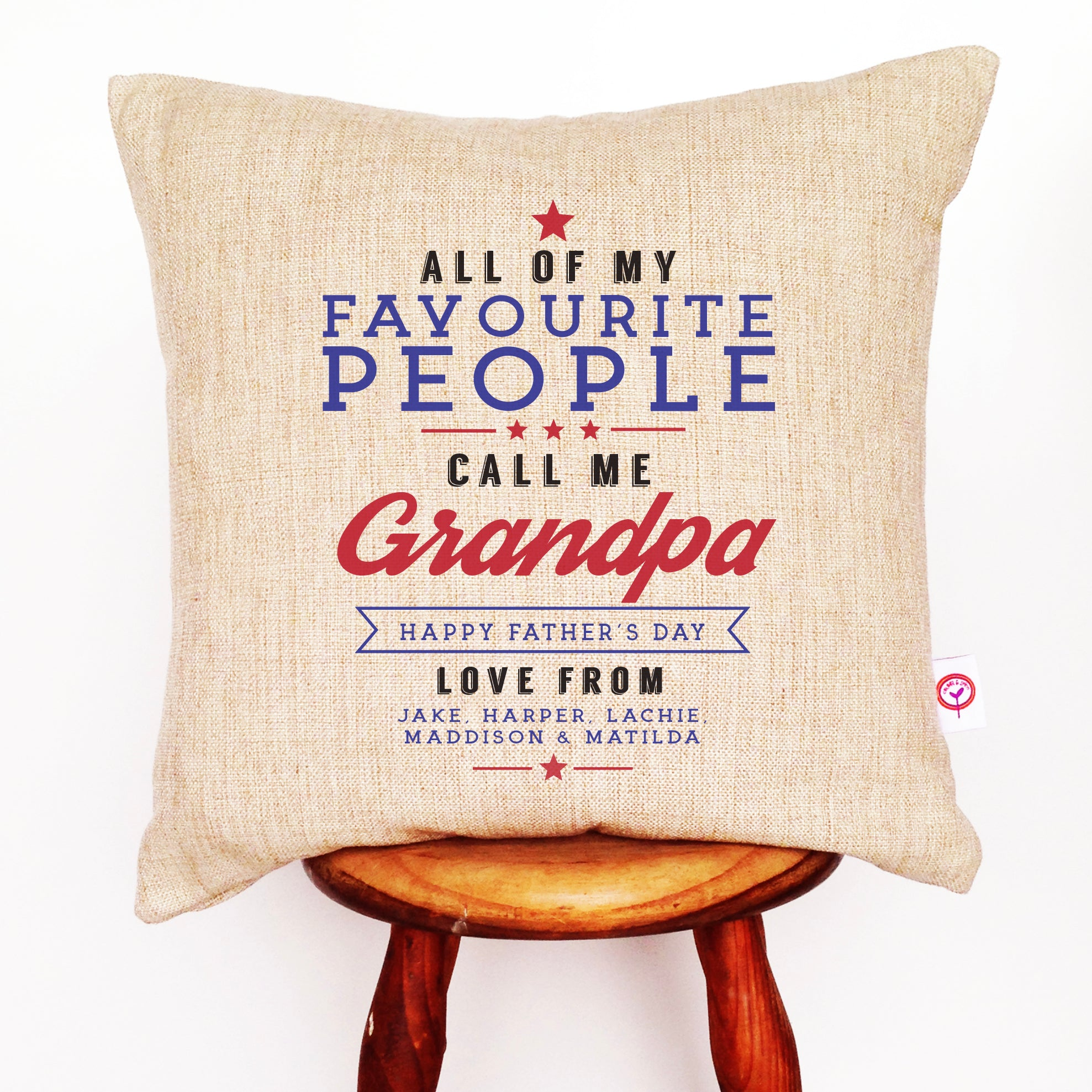 All Of My Favourite People Linen Cushion Cover