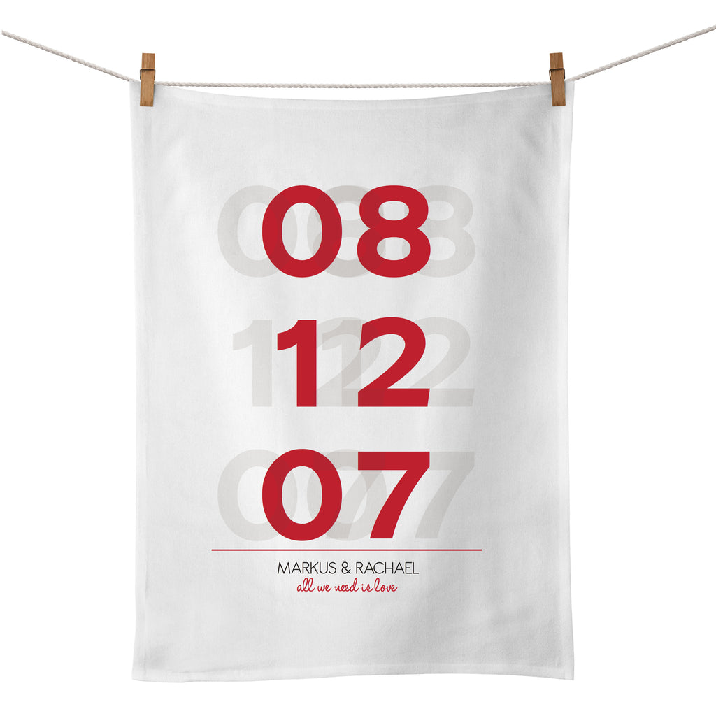 All We Need Is Love Tea Towel