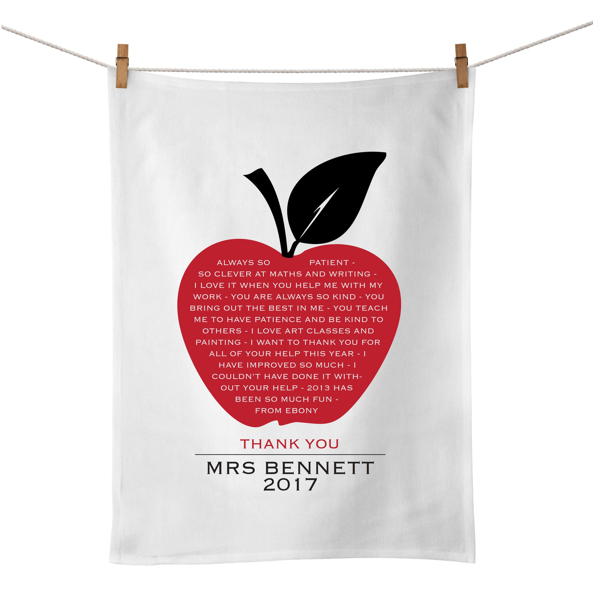 Apple A Day Tea Towel