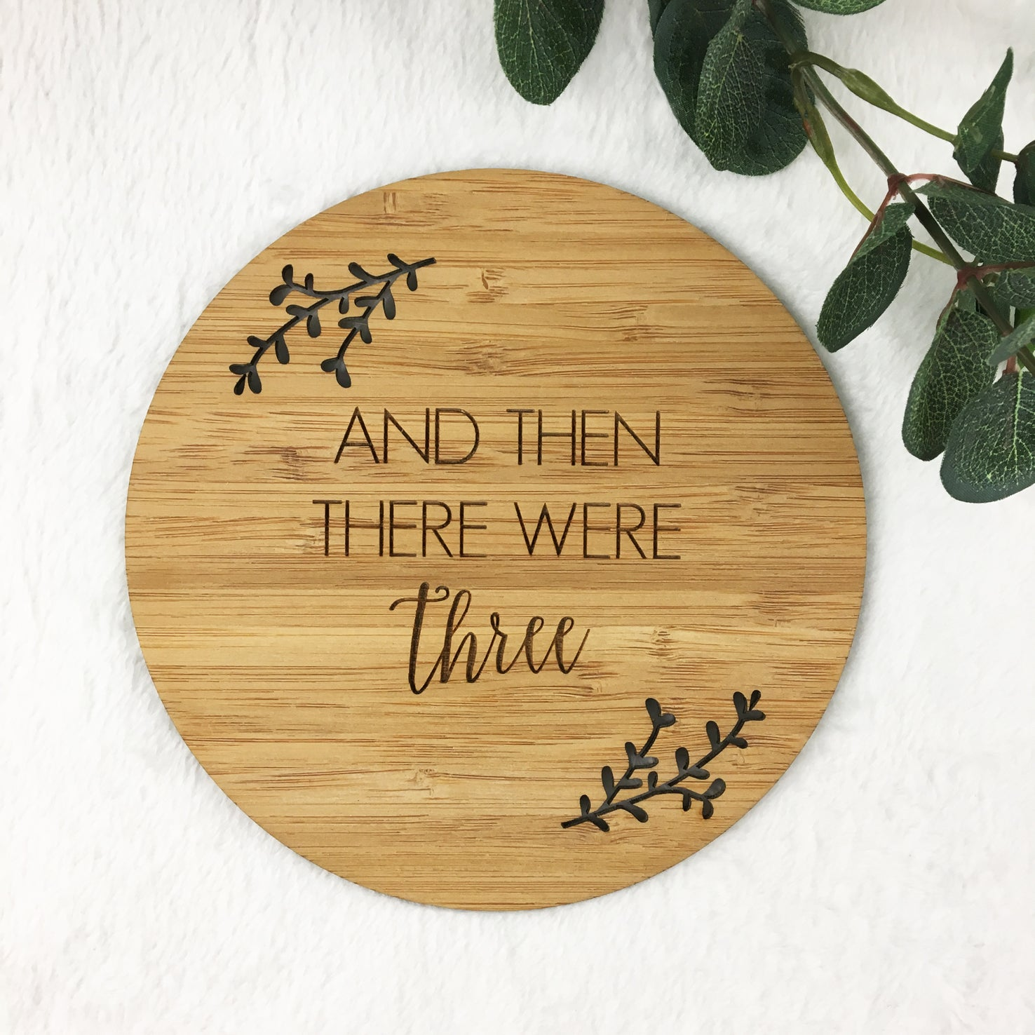 And Then There Were… Personalised Bamboo Plaque