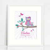 Andrea Cute Owls Birth print