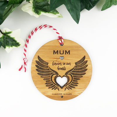 Angel Wings Bamboo Ornament