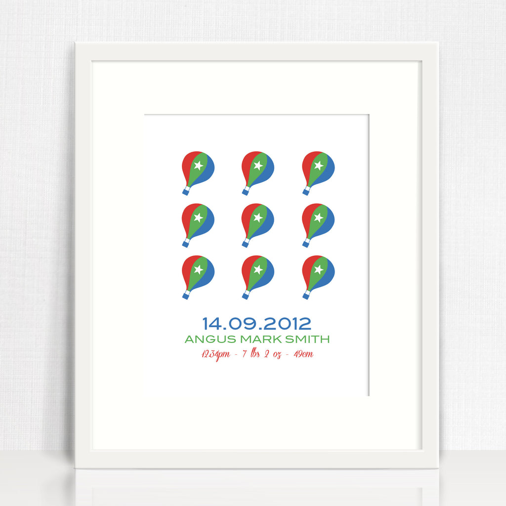 Balloons Repetition Birth Print