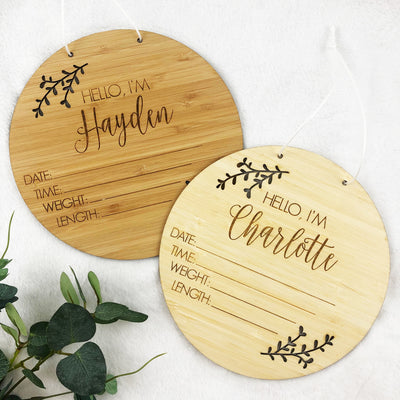 Birth Details Personalised Announcement Plaque
