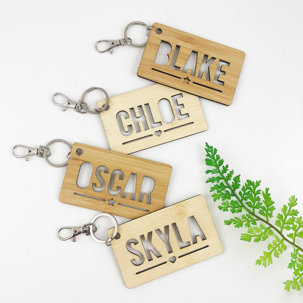 Rectangle Personalised Bag Tag