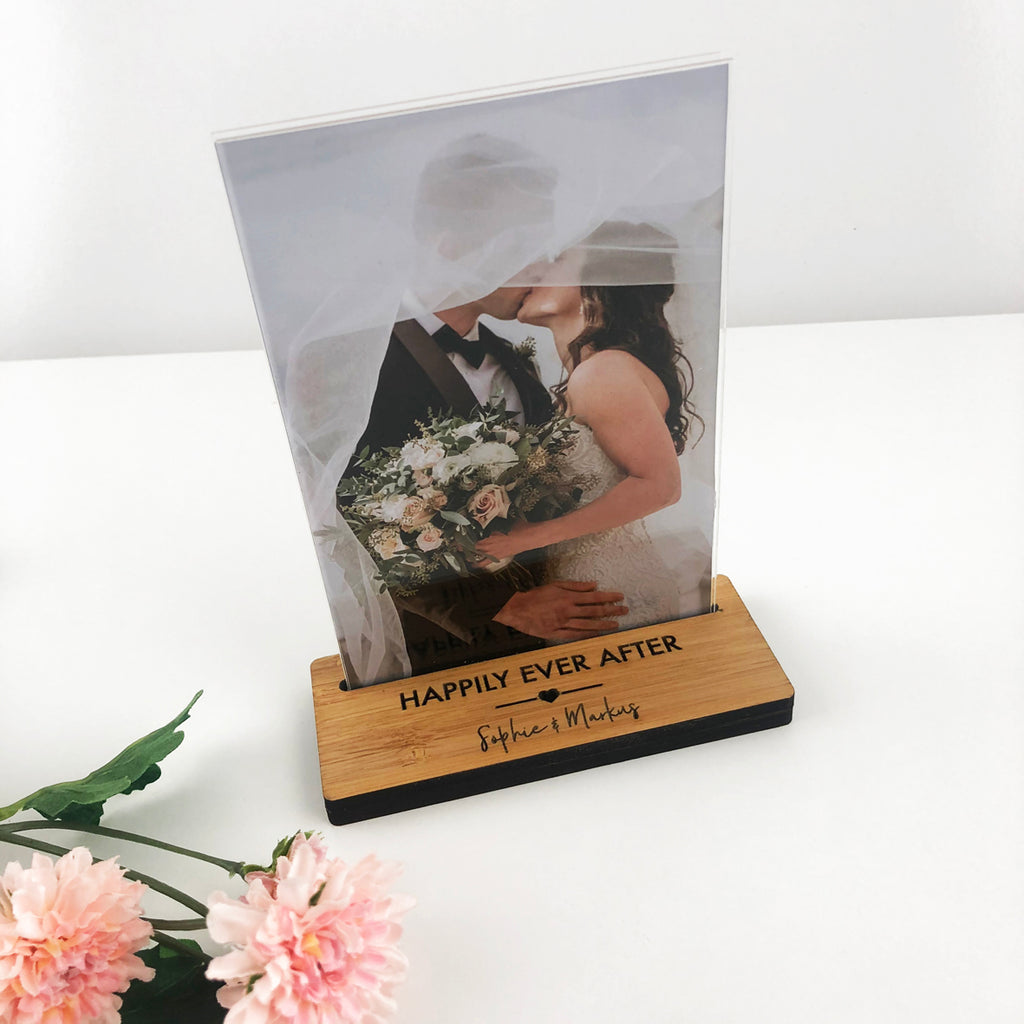 Mother's Day Personalised Bamboo Photo Stand