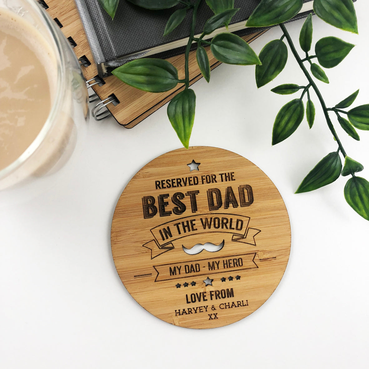 Best Dad In The World Drink Coaster