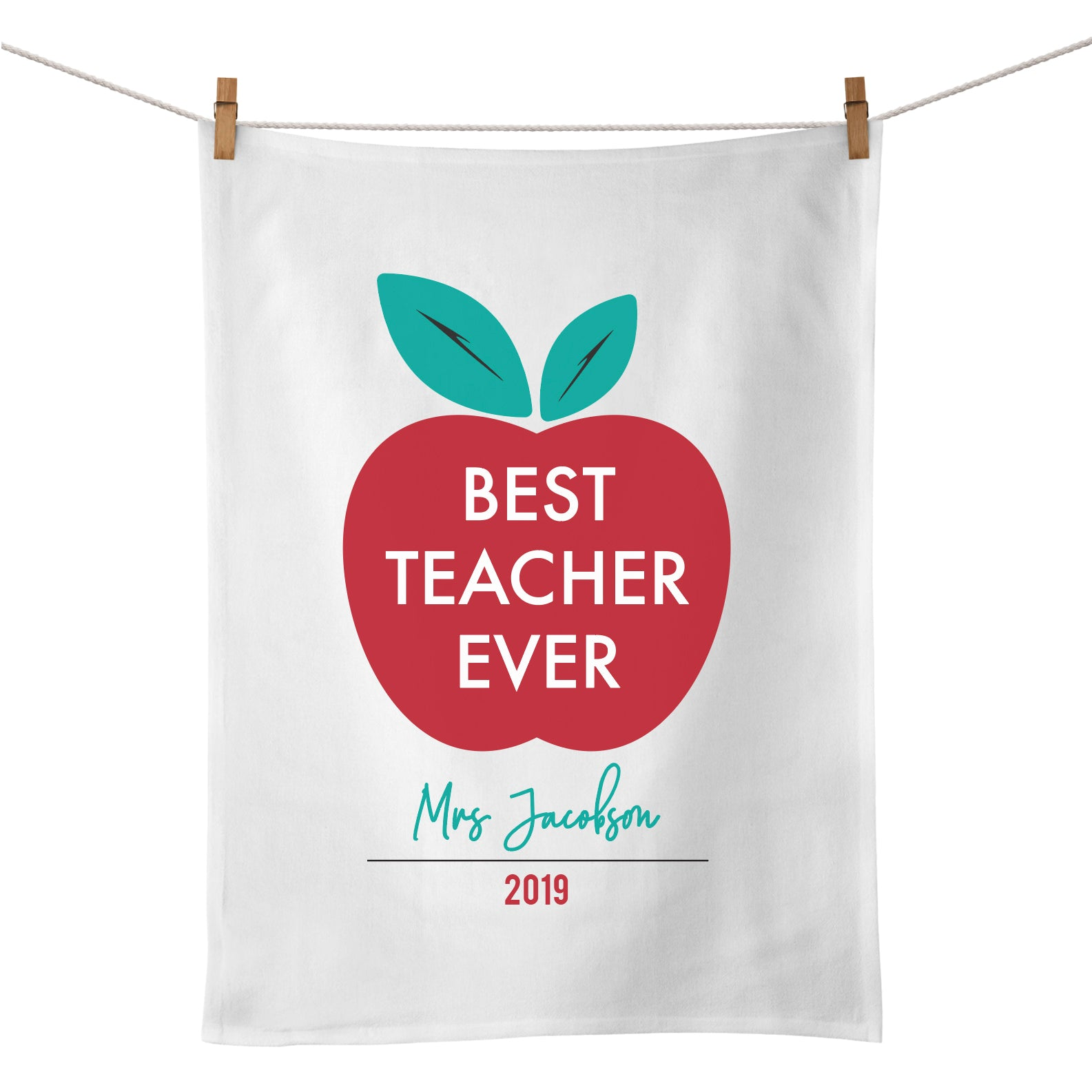 Best Teacher Ever Tea Towel