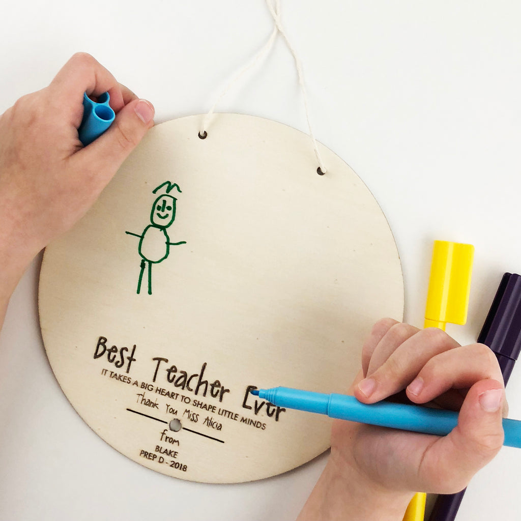 Kids Drawing Personalised Teacher Wall Hanging