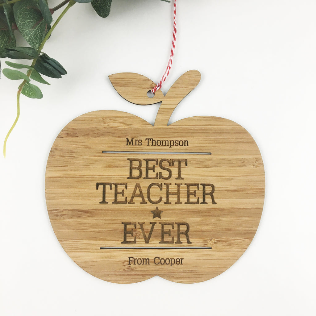 Best Teacher Ever Wall Hanging