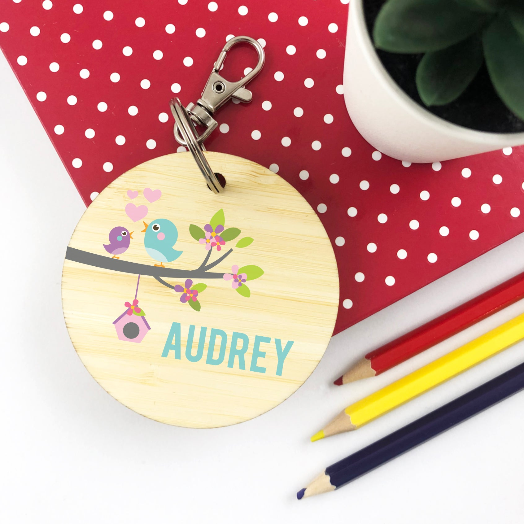 Birdhouse Personalised Bag Tag