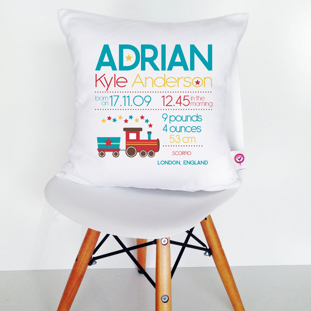 Adrian Birth Details Cushion Cover