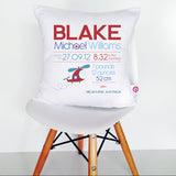 Blake Birth Details Cushion Cover