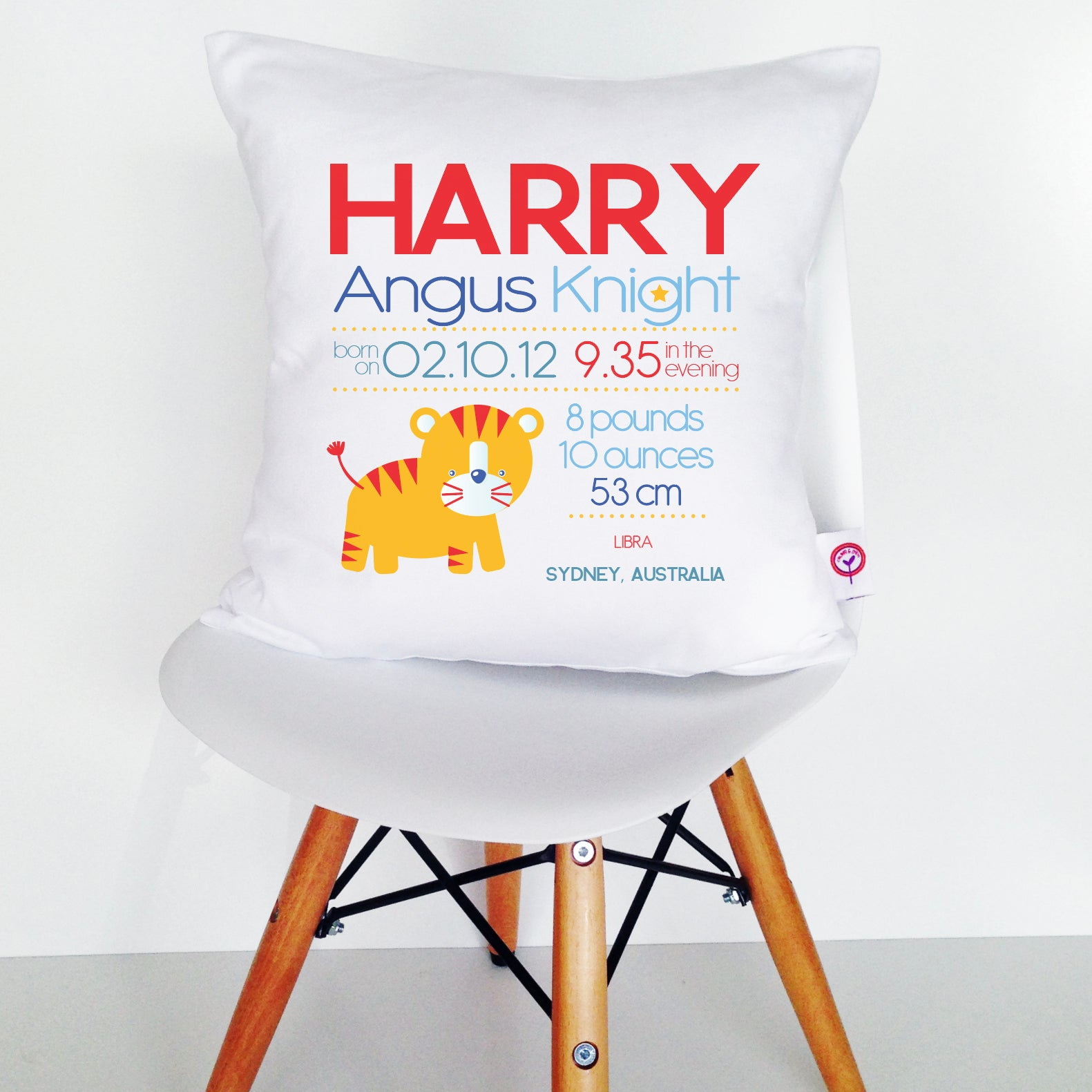 Harry Birth Details Cushion Cover