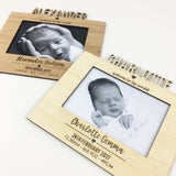 Personalised Birth Details Frame and Stand
