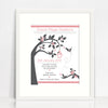 Girls' Tree And Doves Birth Print