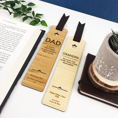Personalised Star Bamboo Bookmark