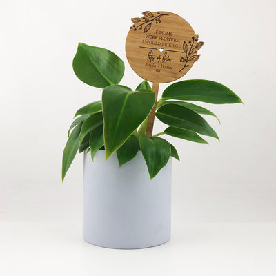 Flourish Mother's Day Bamboo Planter Stick