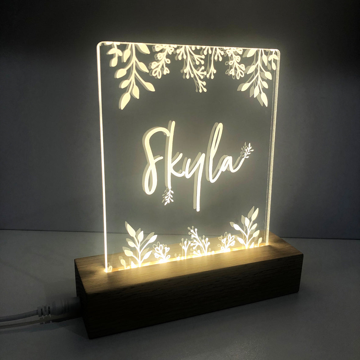 Botanical Personalised Night Light