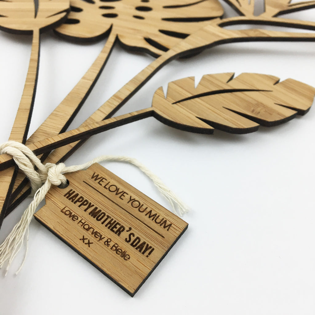Tropical Stems And Personalised Tag