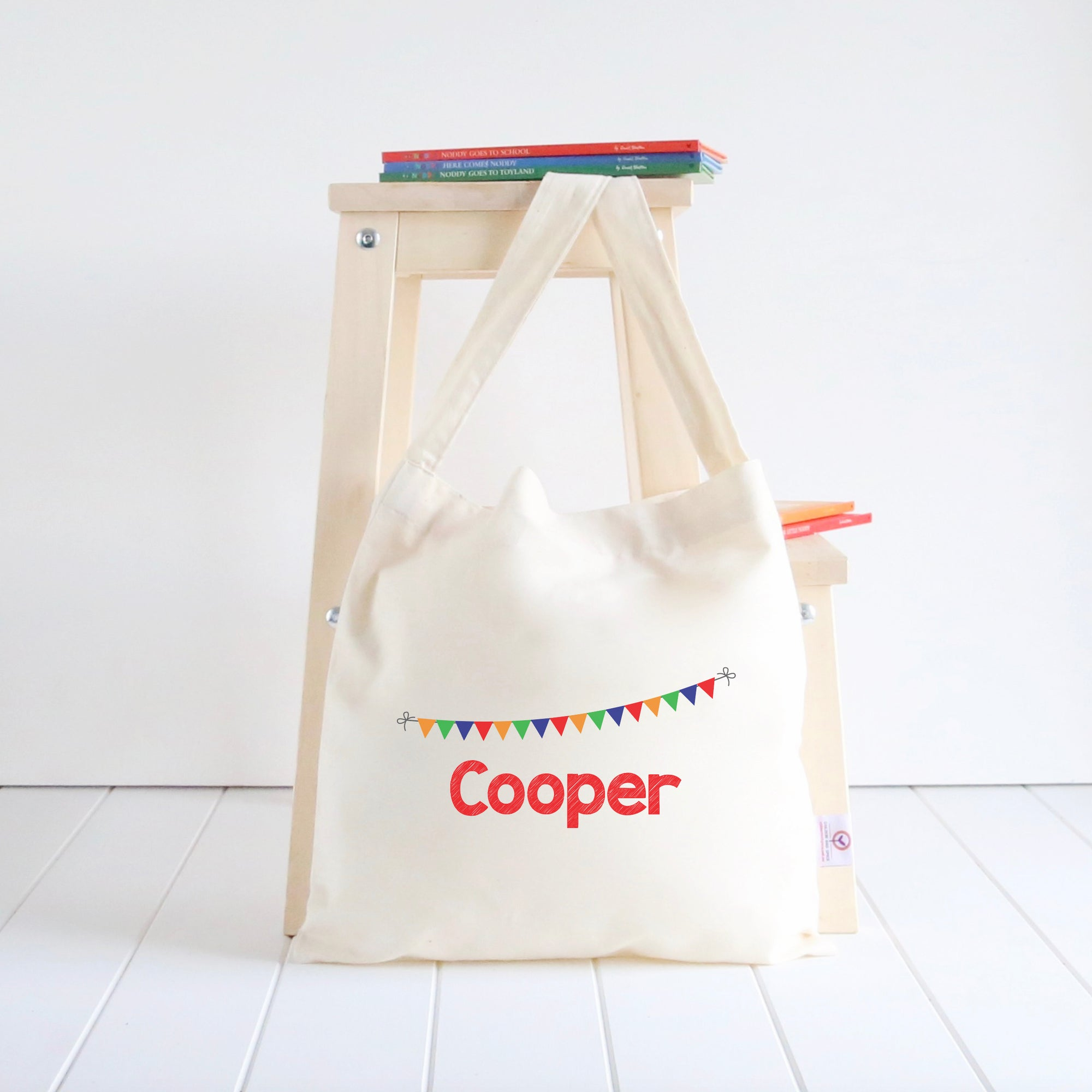 Bunting Library Bag - Boys