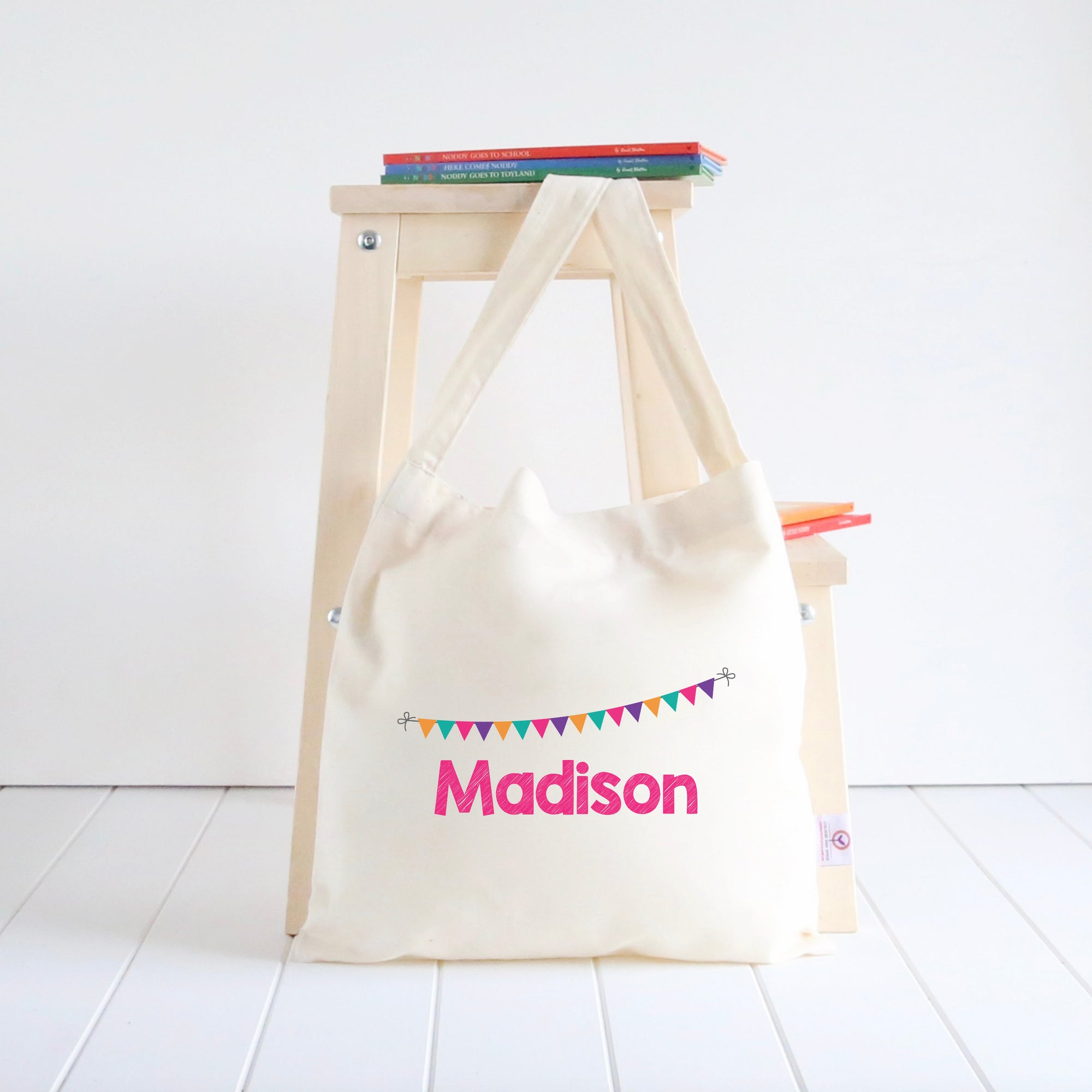 Bunting Library Bag - Girls