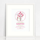 Pretty Tree Circle Birth Print