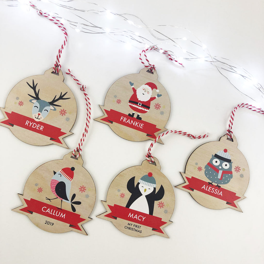 Cute Character Christmas Ornaments