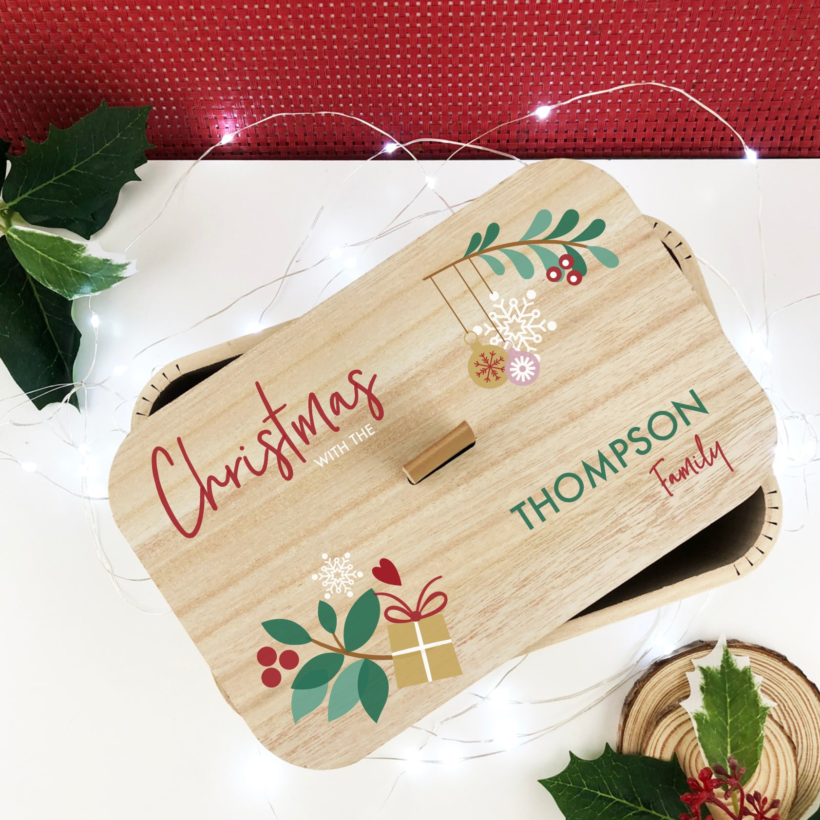Personalised Festive Ornaments Christmas Box (2 sizes)