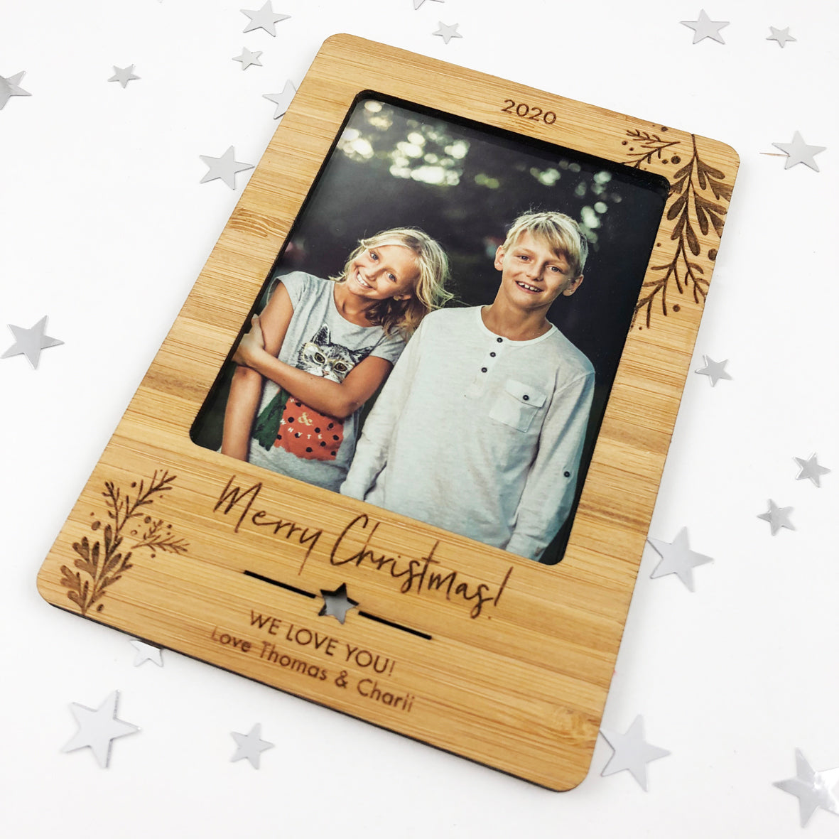 Christmas Flourish Personalised Magnetic Frame