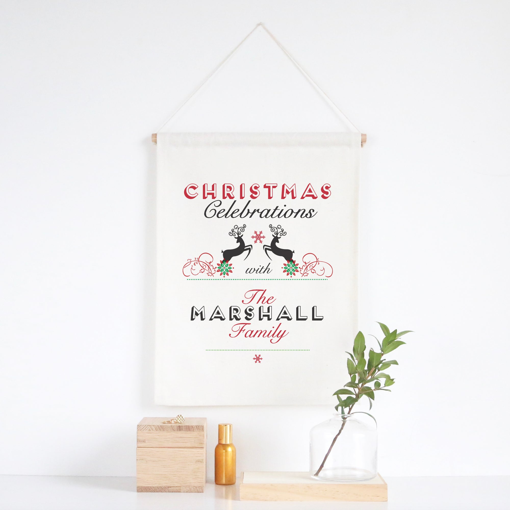 Christmas Celebrations Wall Banner