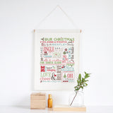 Family Christmas Chart Wall Banner