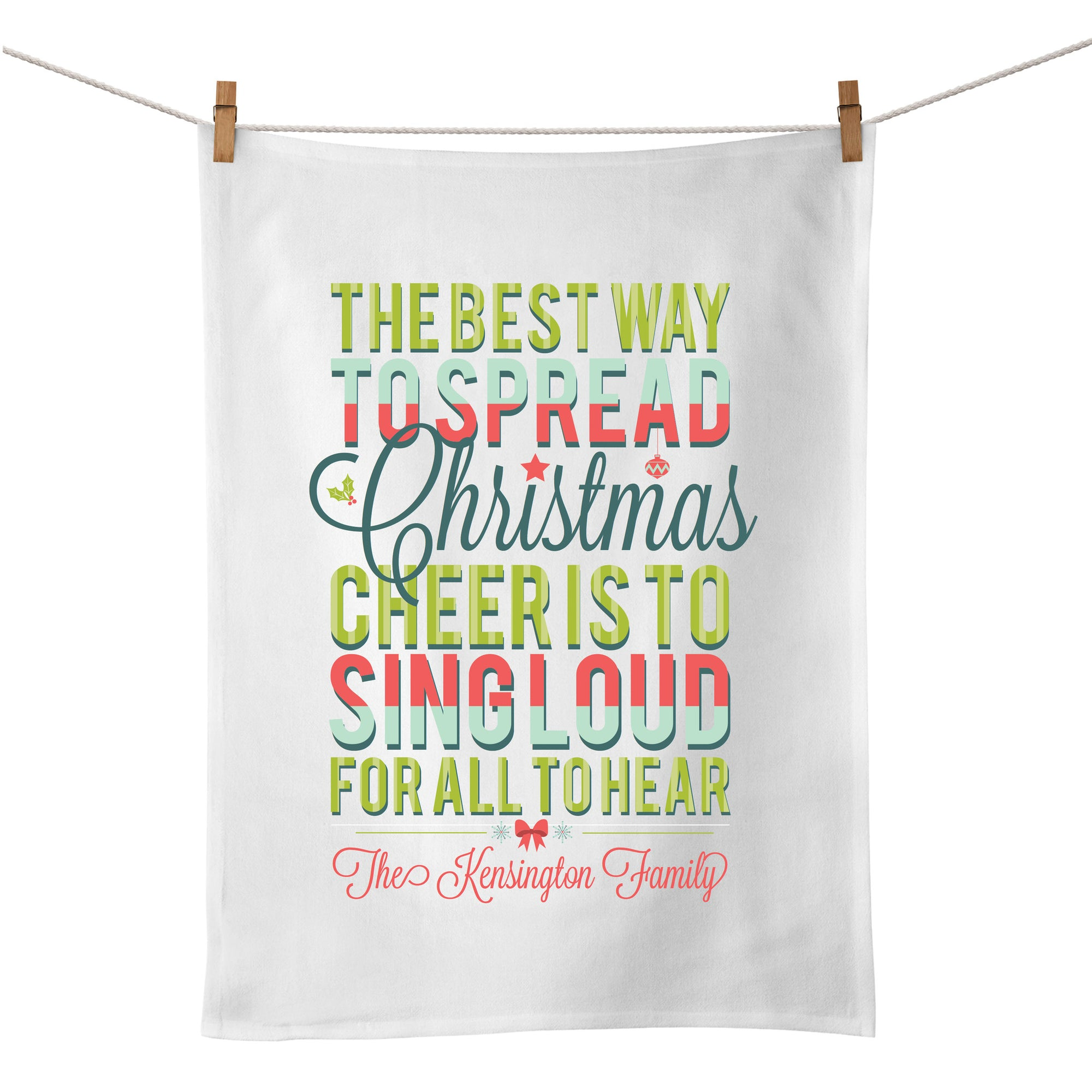 Christmas Cheer Tea Towel