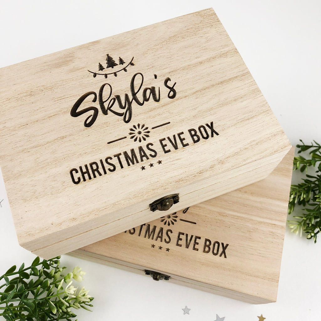 Personalised Christmas Eve Keepsake Box