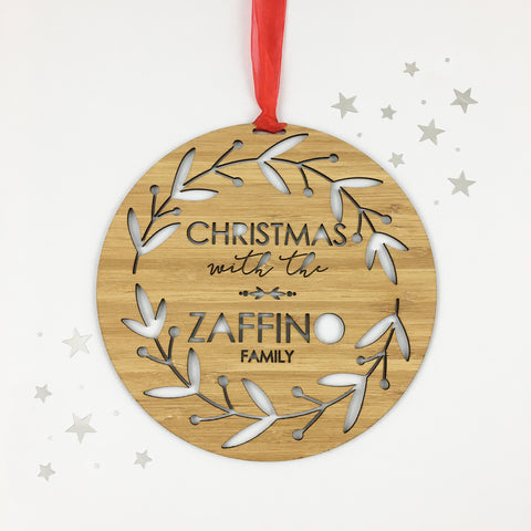 Personalised Santa Treats Bamboo Serving Board