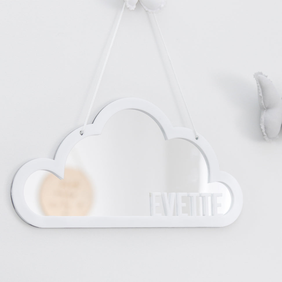 Cloud Mirror Name Wall Hanging