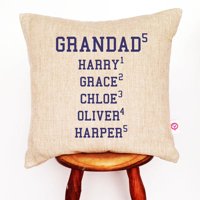 College Names Linen Cushion Cover