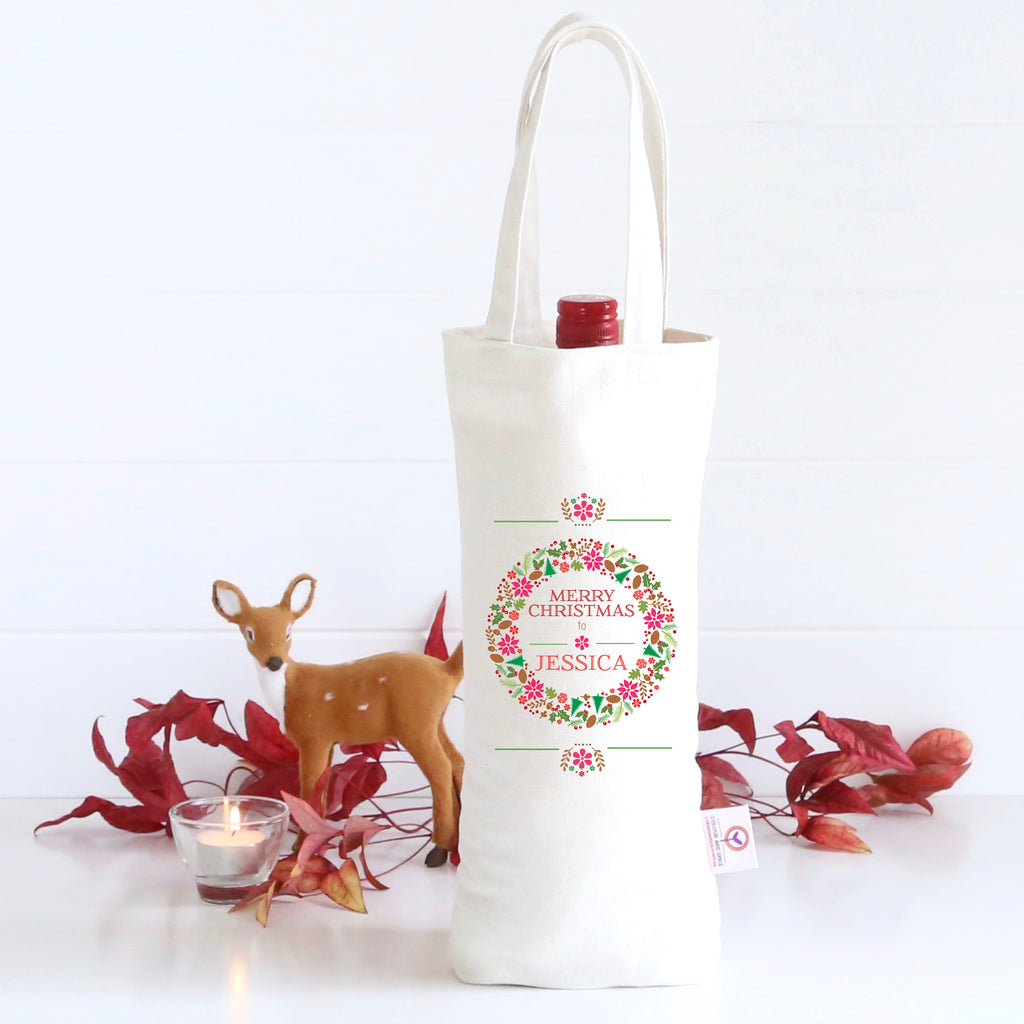 Colourful Wreath Wine Bag