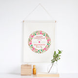 Colourful Wreath Wall Banner