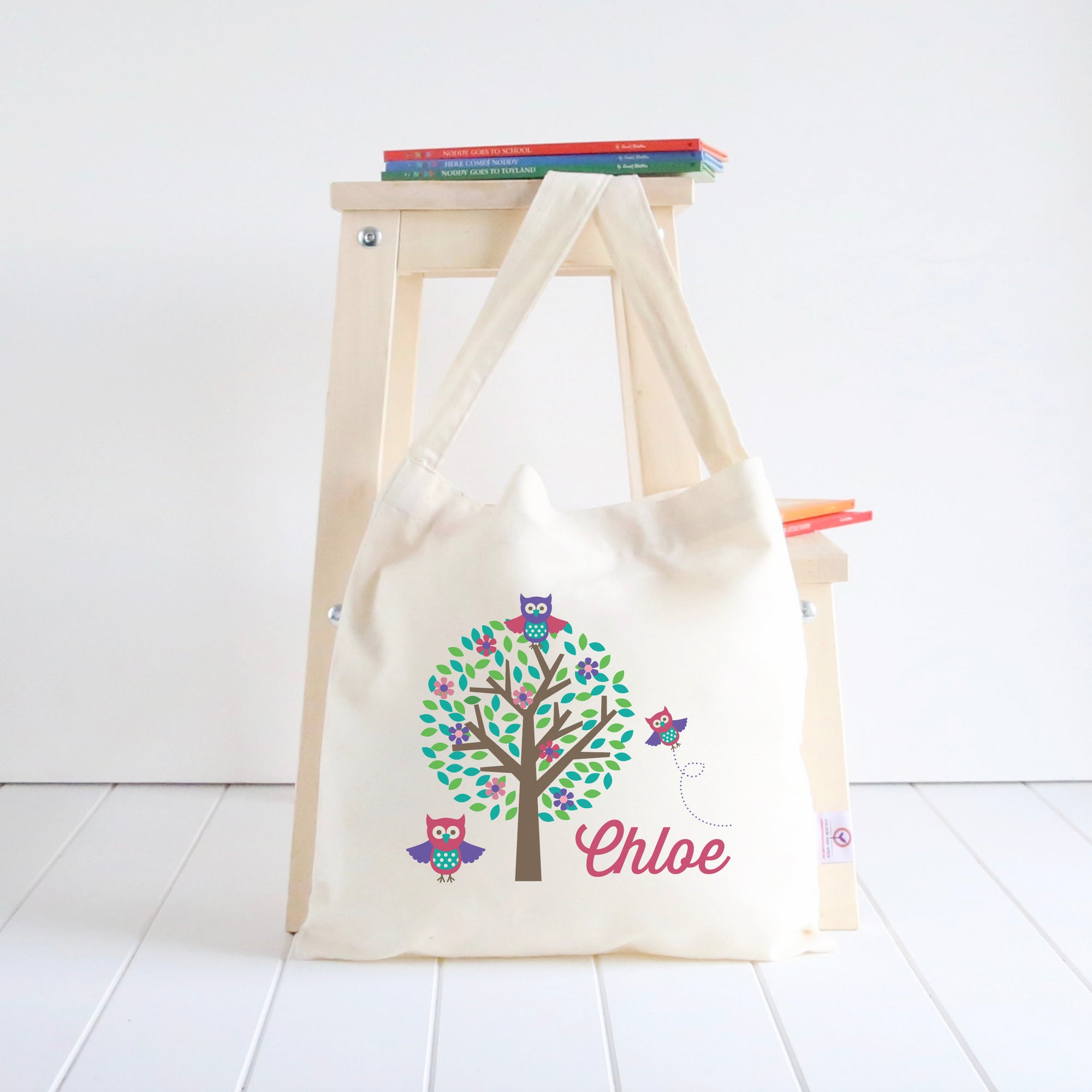 Cute Owls Library Bag