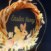 Easter Bunny Stop Here Personalised Night Light