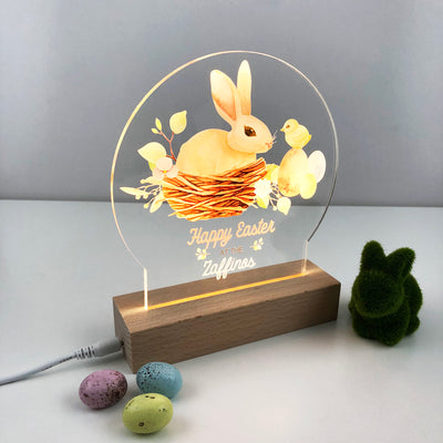 Family Happy Easter Personalised Night Light