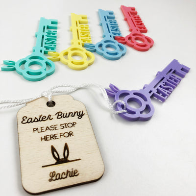 Easter Bunny's Keyring & Key (5 colours)