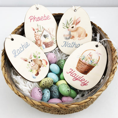 Watercolour Wooden Easter Name Decoration (4 designs)