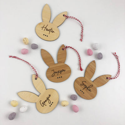 Easter Bunny Bamboo Name Tags