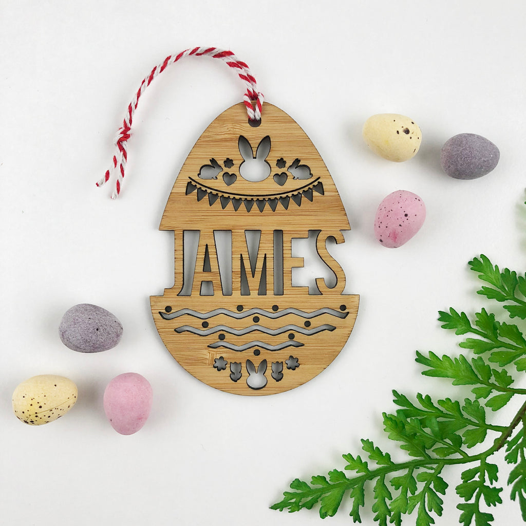 Easter Bamboo Detailed Name Tags