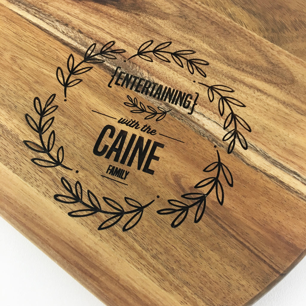 Personalised Family Wreath Serving Board