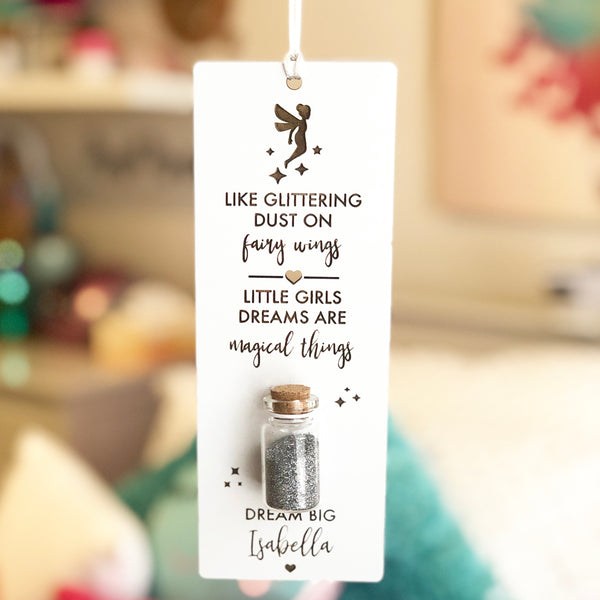 Fairy Dust Personalised Wall Hanging Colour And Spice Pty Ltd
