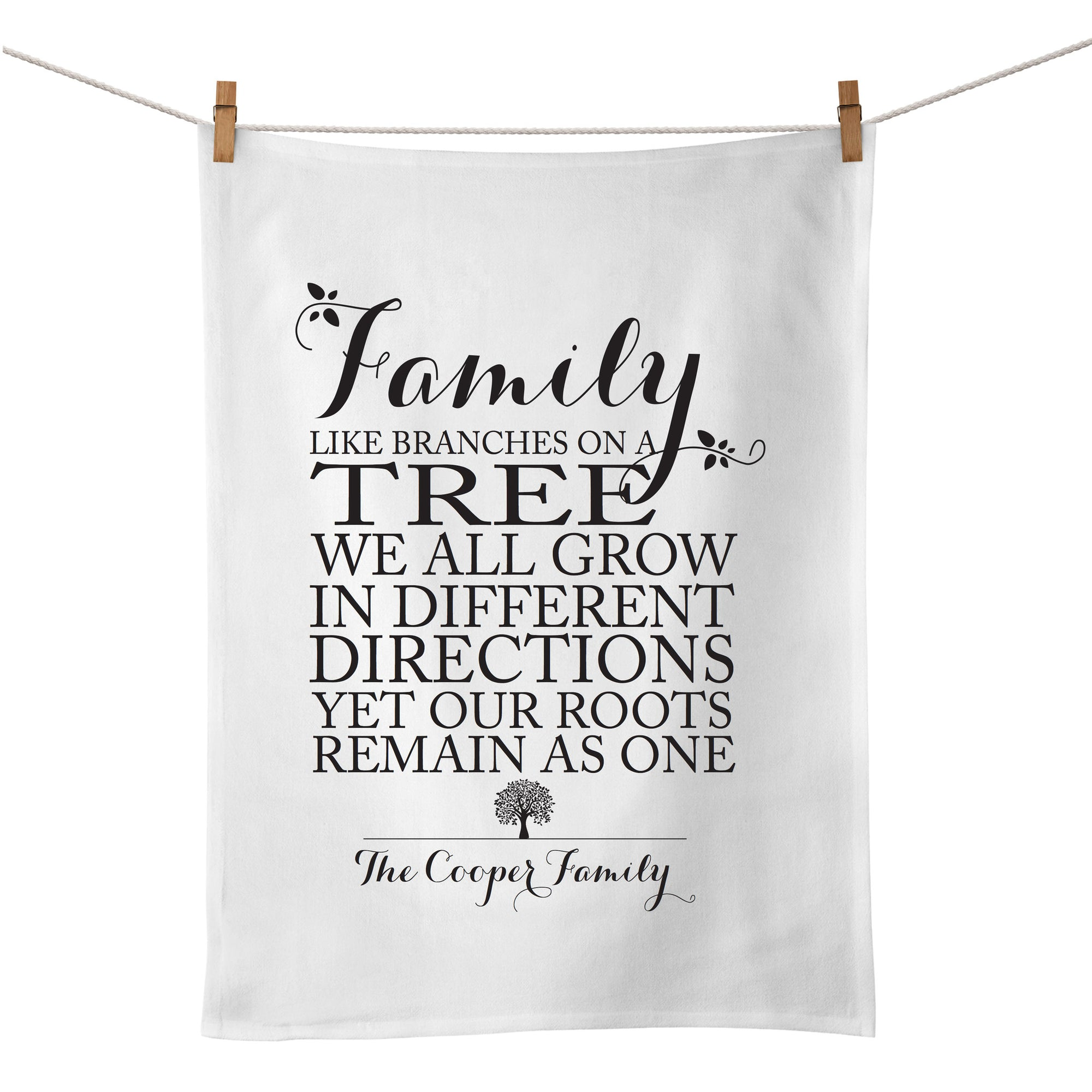 Family Roots Tea Towel